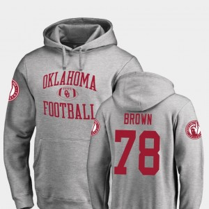 Neutral Zone Fanatics Branded College Football Ash For Men's Orlando Brown OU Hoodie #78