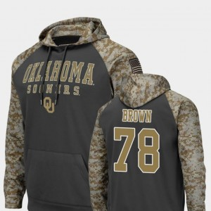 Orlando Brown Oklahoma Hoodie United We Stand #78 For Men's Colosseum Football Charcoal
