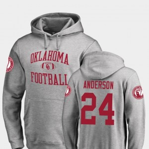 Rodney Anderson Oklahoma Sooners Hoodie Neutral Zone Fanatics Branded College Football For Men #24 Ash