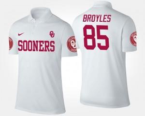 #85 White Men Name and Number Ryan Broyles Oklahoma Sooners Polo
