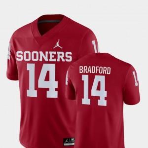 Sam Bradford Oklahoma Sooners Jersey Crimson For Men Game College Football Jordan Brand #14