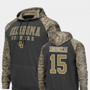 United We Stand Charcoal #15 For Men Colosseum Football Tanner Mordecai Oklahoma Hoodie