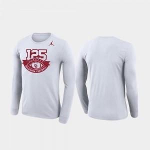 Jordan Brand Legend Long Sleeve Oklahoma T-Shirt White Men 125th Football Season