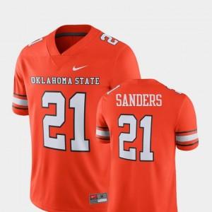 #21 Alumni Football Game For Men Barry Sanders OK State Jersey Player Nike Orange