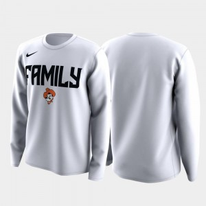OSU Cowboys T-Shirt White Mens March Madness Legend Basketball Long Sleeve Family on Court