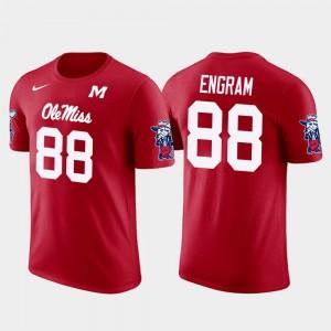 Future Stars #88 Evan Engram University of Mississippi T-Shirt Red New York Giants Football Men's