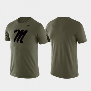 Performance Green Men University of Mississippi T-Shirt Tonal Logo Legend