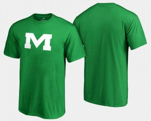 Kelly Green For Men St. Patrick's Day Ole Miss T-Shirt White Logo Big & Tall