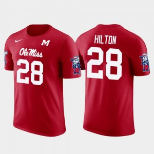 Red For Men's Mike Hilton Rebels T-Shirt Pittsburgh Steelers Football #28 Future Stars