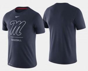 Navy Dugout Performance College Baseball Men Ole Miss T-Shirt