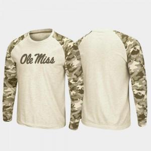 Rebels T-Shirt For Men Raglan Long Sleeve Desert Camo Oatmeal OHT Military Appreciation