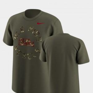 Legend Camo For Men's Ole Miss Rebels T-Shirt Nike Olive
