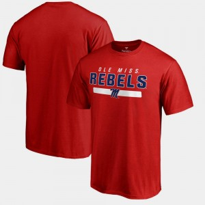 Men's Red Ole Miss T-Shirt Fanatics Branded Team Strong
