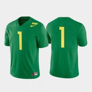 Apple Green #1 Oregon Ducks Jersey Men's Game Nike College Football