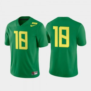 Ducks Jersey Apple Green #18 College Football Game Authentic For Men's