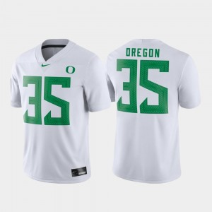 White Mens #35 Game Oregon Jersey Football