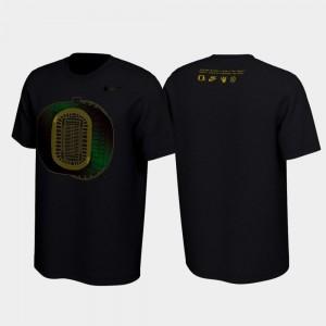 Men's Oregon Ducks T-Shirt 2019 Disruption Black