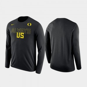 For Men's Black Ducks T-Shirt Shooting Nike Local Legend Long Sleeve
