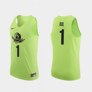 Bol Bol UO Jersey For Men #1 College Basketball Apple Green Authentic