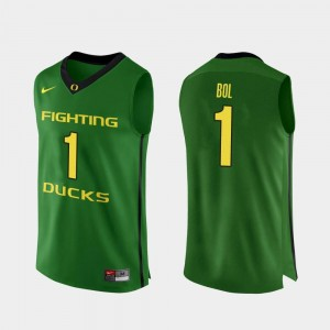 Bol Bol Oregon Ducks Jersey #1 Apple Green Mens College Basketball Authentic
