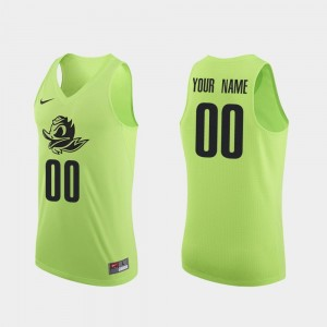 Authentic #00 College Basketball University of Oregon Custom Jersey For Men's Apple Green