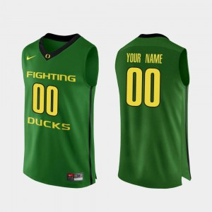 #00 Apple Green College Basketball Men's Authentic University of Oregon Customized Jerseys