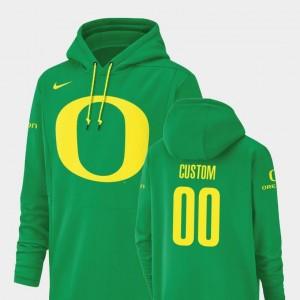 #00 Men's Ducks Customized Hoodies Nike Football Performance Green Champ Drive