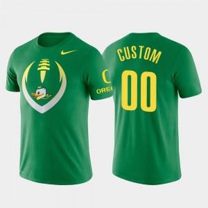 Football Icon Oregon Ducks Custom T-Shirt Performance Green Mens #00