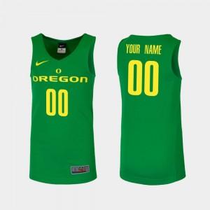 University of Oregon Customized Jerseys Replica College Basketball Green For Men #00