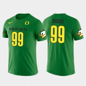 Deforest Buckner Oregon T-Shirt For Men's #99 San Francisco 49ers Football Future Stars Green