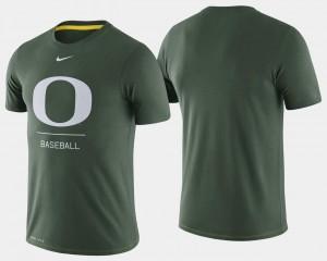 Green Men's University of Oregon T-Shirt Dugout Performance College Baseball