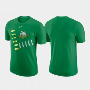 Green Men Oregon Ducks T-Shirt Just Do It Nike Performance Cotton