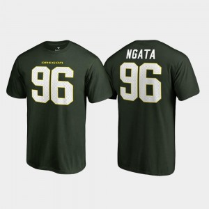 #96 Name & Number College Legends Green Mens Haloti Ngata Oregon T-Shirt