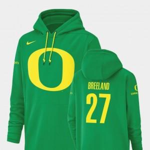 Champ Drive Men's #27 Green Nike Football Performance Jacob Breeland Oregon Hoodie