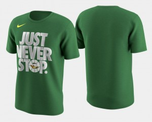 Basketball Tournament Just Never Stop March Madness Selection Sunday University of Oregon T-Shirt For Men's Kelly Green