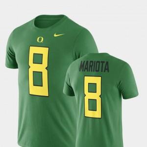 Name & Number Men's Green College Football Marcus Mariota University of Oregon T-Shirt #8