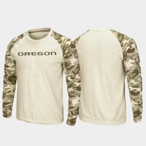 Raglan Long Sleeve Oatmeal UO T-Shirt OHT Military Appreciation For Men