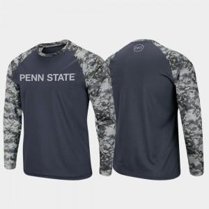 Raglan Long Sleeve Digi Camo Charcoal Camo For Men Penn State T-Shirt OHT Military Appreciation