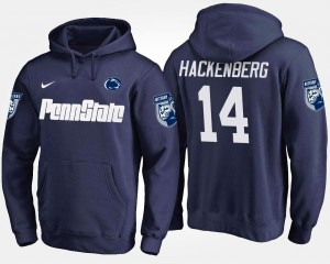 Name and Number Men's Christian Hackenberg Penn State Hoodie #14 Navy