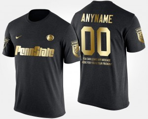 Short Sleeve With Message Black Penn State Customized T-Shirt Gold Limited Men #00