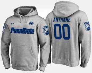 For Men #00 Gray Name and Number PSU Customized Hoodies