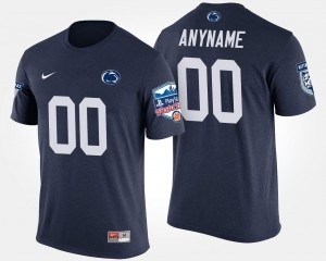 Navy #00 Fiesta Bowl Name and Number T shirt For Men's Penn State Nittany Lions Custom T-Shirts Bowl Game
