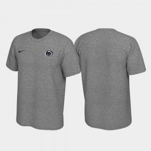 Mens Penn State Nittany Lions T-Shirt Legend Heathered Gray Left Chest Logo