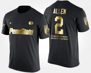Marcus Allen Penn State T-Shirt #2 Black Short Sleeve With Message Gold Limited Mens