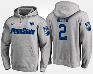 Gray Marcus Allen Penn State Hoodie Name and Number #2 Mens