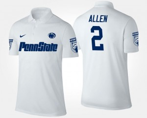 Name and Number For Men Marcus Allen Penn State Nittany Lions Polo #2 White