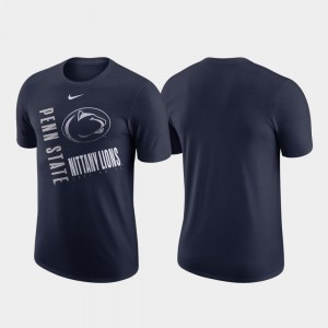 Just Do It Penn State Nittany Lions T-Shirt For Men Nike Performance Cotton Navy