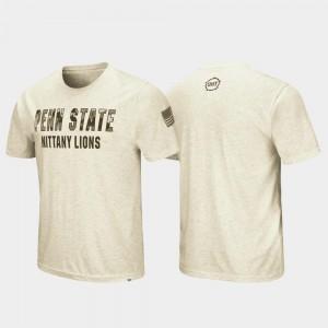 Desert Camo Penn State T-Shirt Men's Oatmeal OHT Military Appreciation