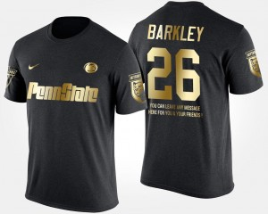 Gold Limited Short Sleeve With Message Saquon Barkley Penn State T-Shirt Men's Black #26