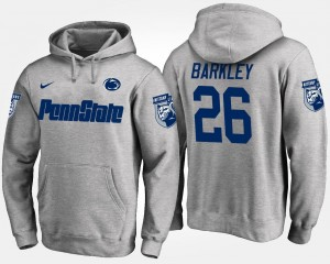Saquon Barkley Penn State Nittany Lions Hoodie Name and Number Gray #26 Mens